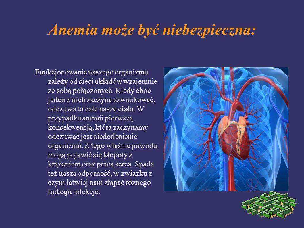 Anemia może być niebezpieczna: