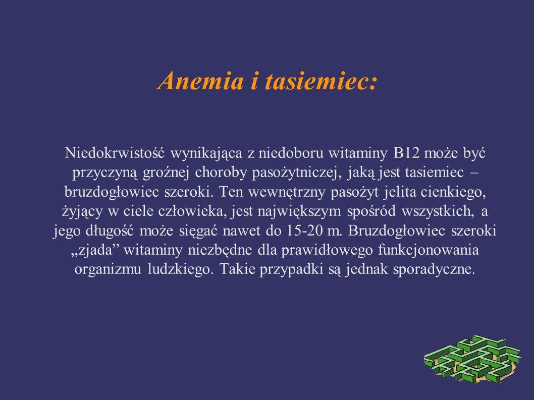 Anemia i tasiemiec: