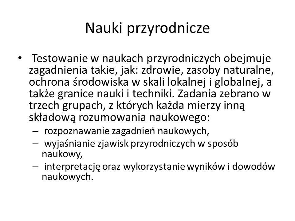 Nauki przyrodnicze