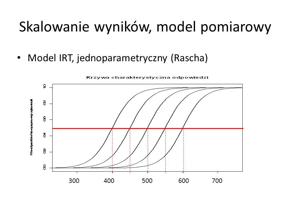 Skalowanie wyników, model pomiarowy