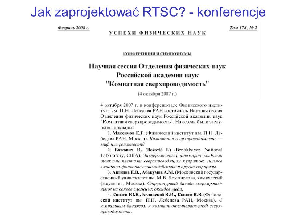Jak zaprojektować RTSC - konferencje