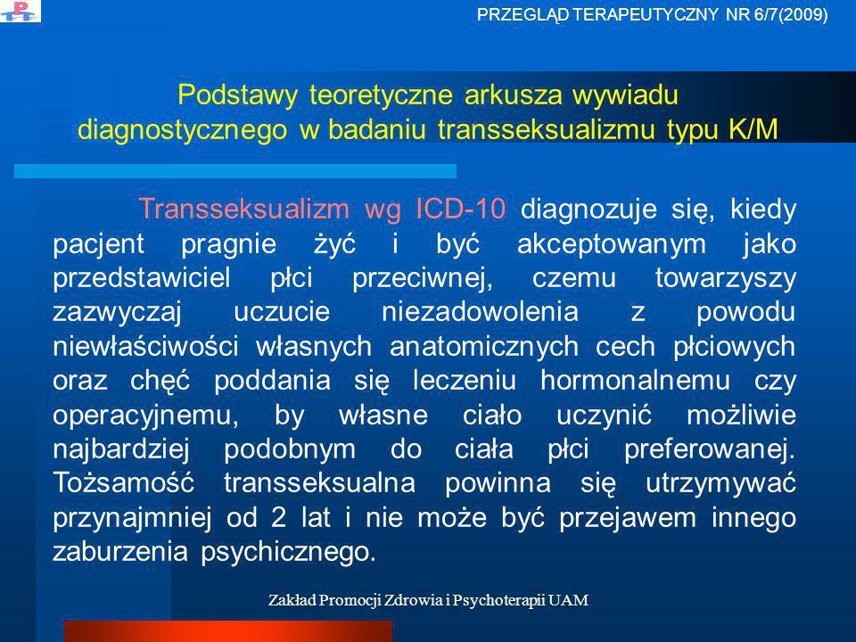 Zakład Promocji Zdrowia i Psychoterapii UAM