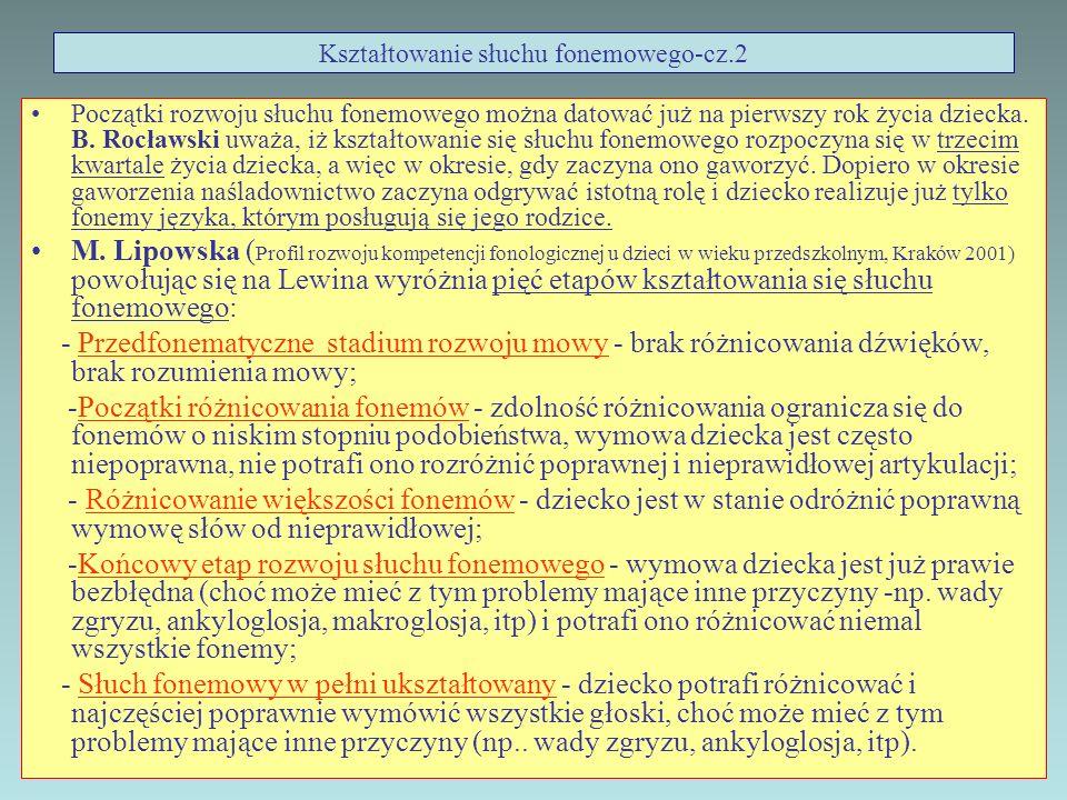 Kształtowanie słuchu fonemowego-cz.2