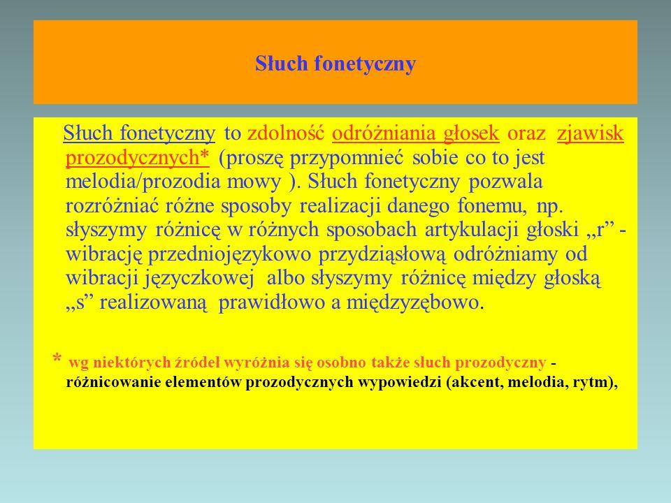 Słuch fonetyczny