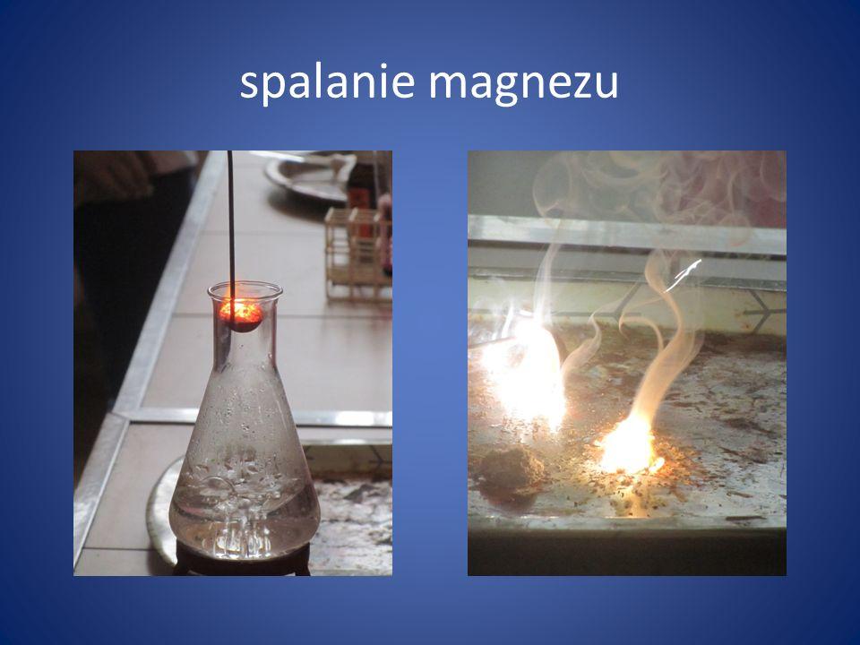 spalanie magnezu