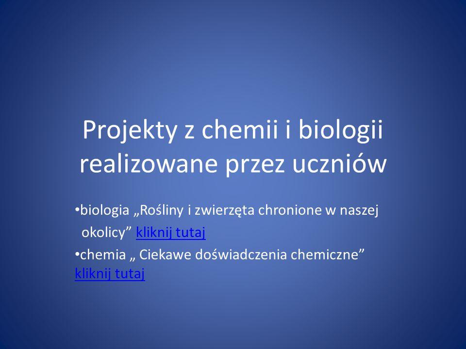 Projekty z chemii i biologii realizowane przez uczniów