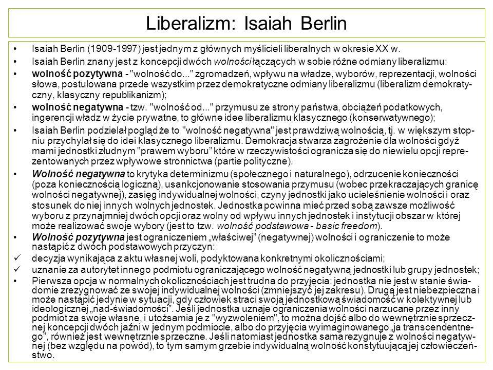 Liberalizm: Isaiah Berlin