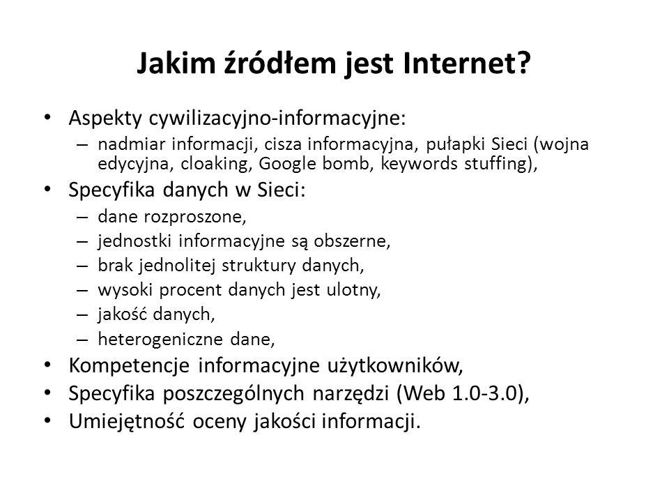 Jakim źródłem jest Internet