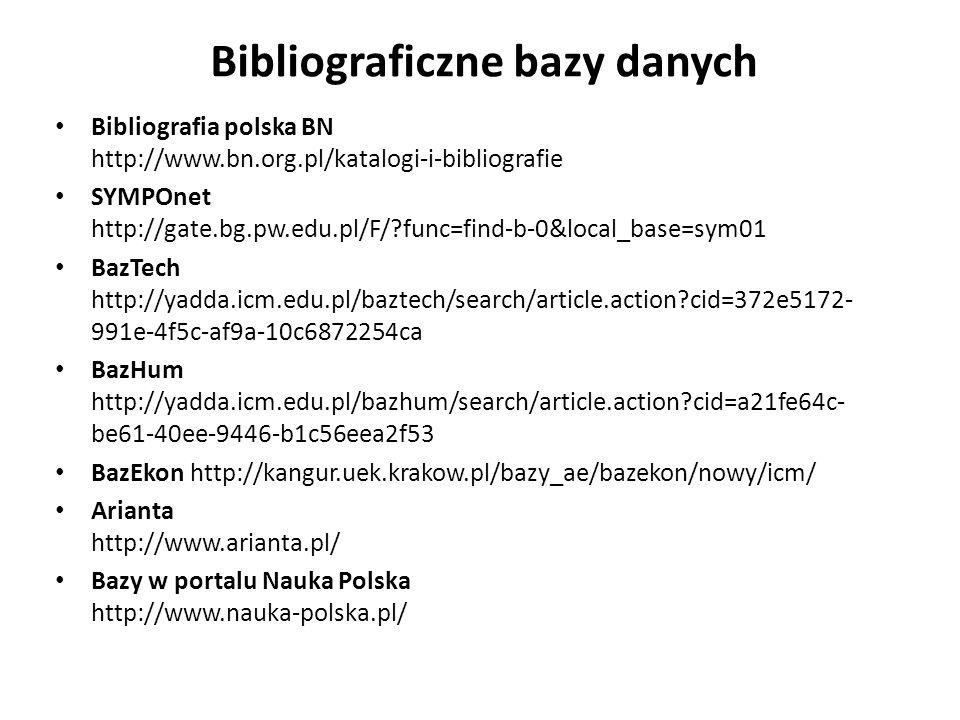 Bibliograficzne bazy danych