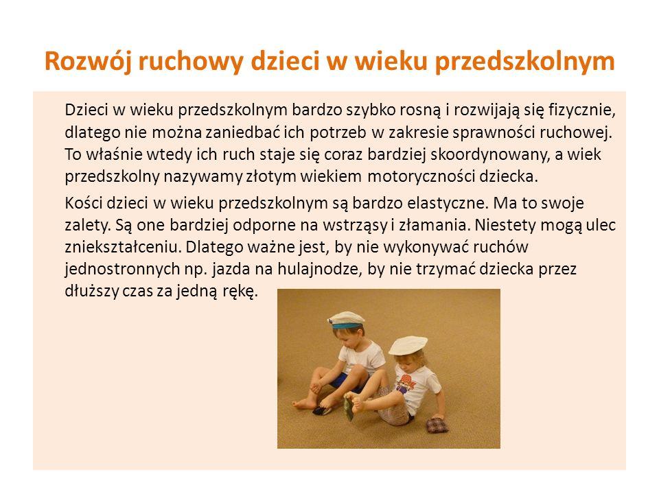 Rozwój ruchowy dzieci w wieku przedszkolnym