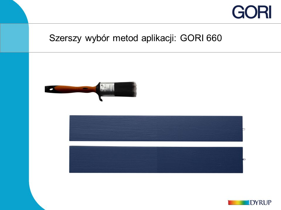 Szerszy wybór metod aplikacji: GORI 660