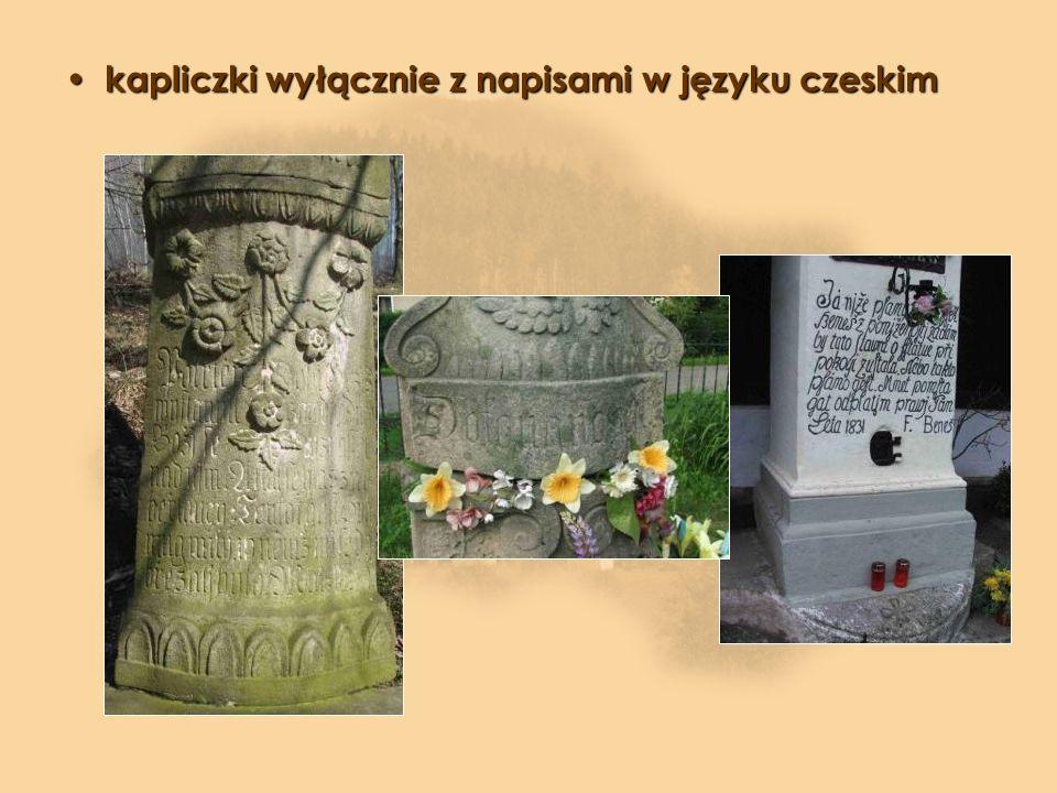 kapliczki wyłącznie z napisami w języku czeskim