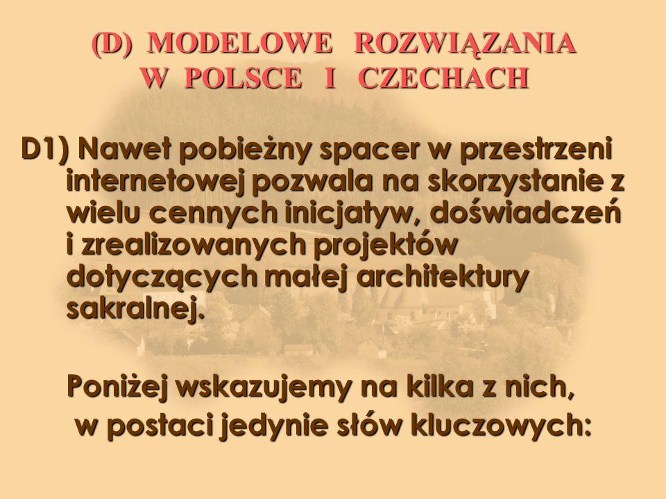 (D) MODELOWE ROZWIĄZANIA W POLSCE I CZECHACH