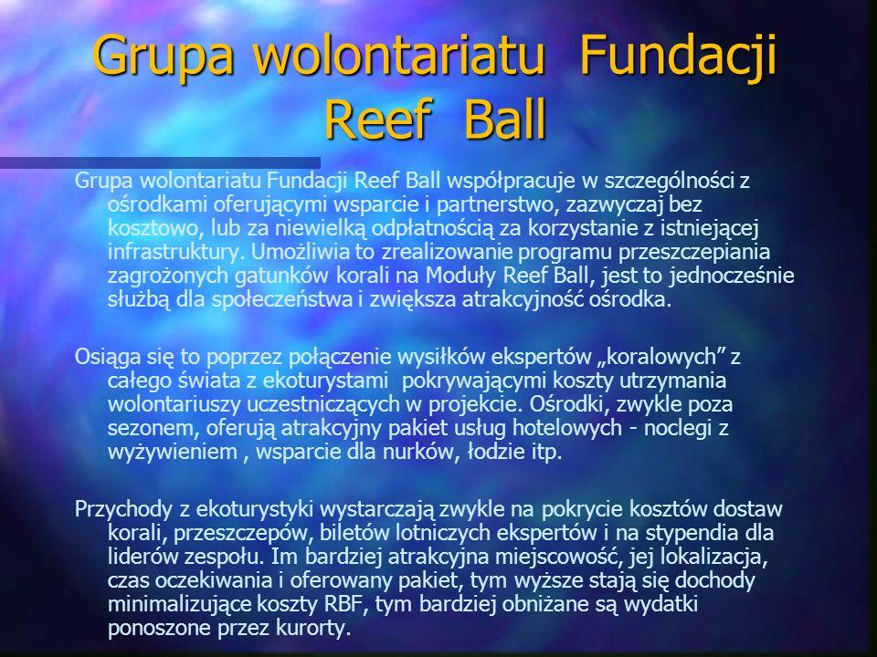 Grupa wolontariatu Fundacji Reef Ball