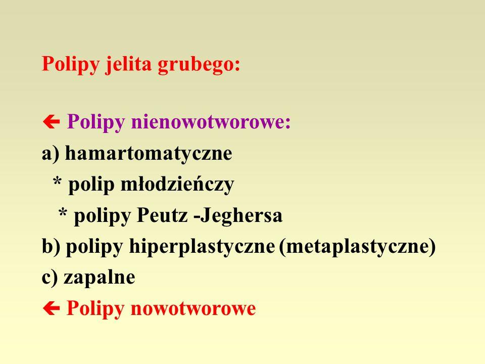 Polipy jelita grubego: