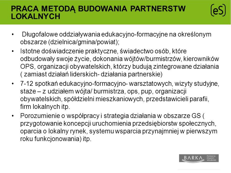 Praca metodą budowania partnerstw lokalnych