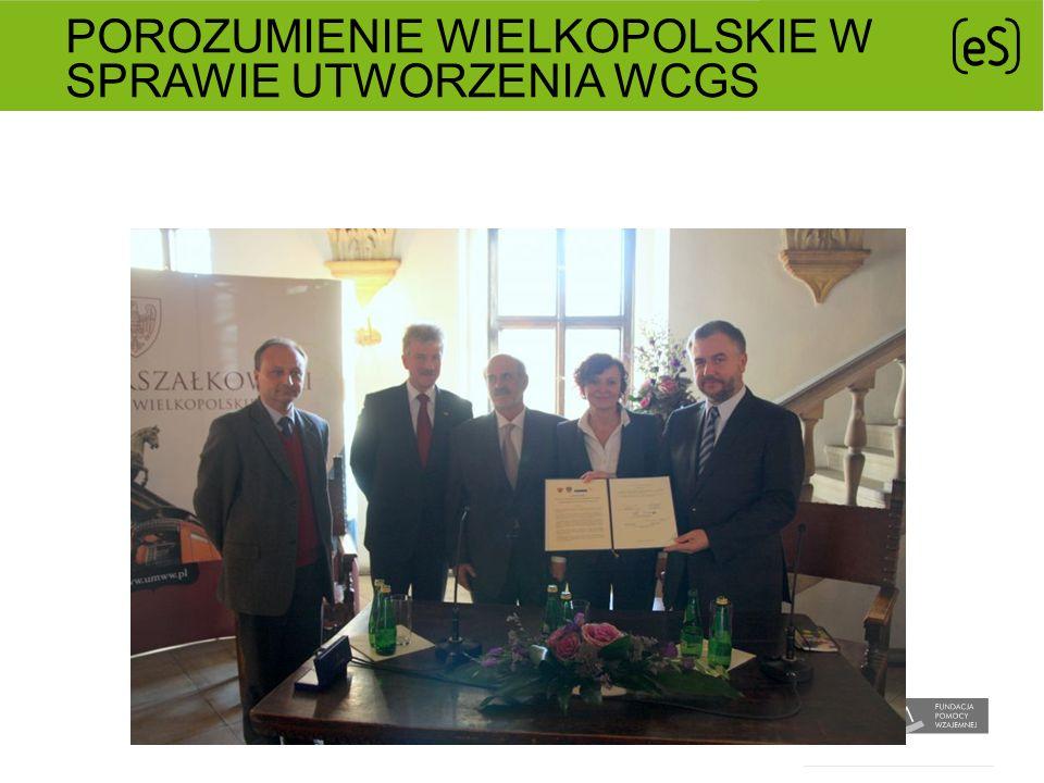Porozumienie Wielkopolskie w sprawie utworzenia WCGS