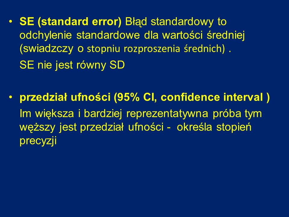przedział ufności (95% CI, confidence interval )