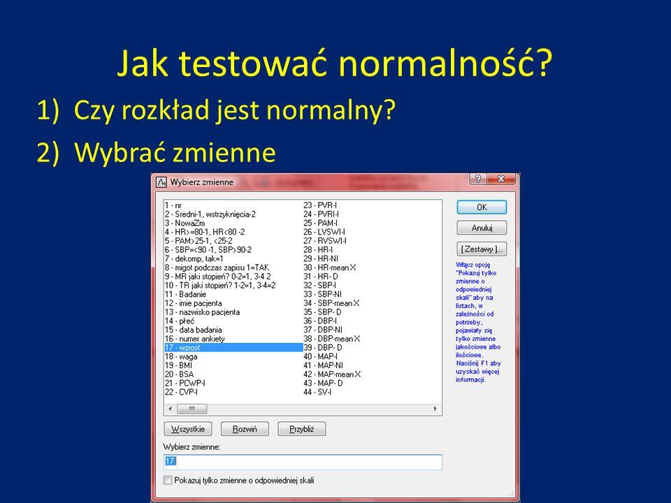 Jak testować normalność
