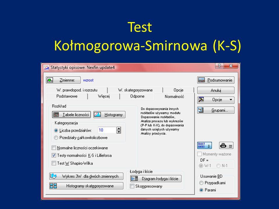 Test Kołmogorowa-Smirnowa (K-S)