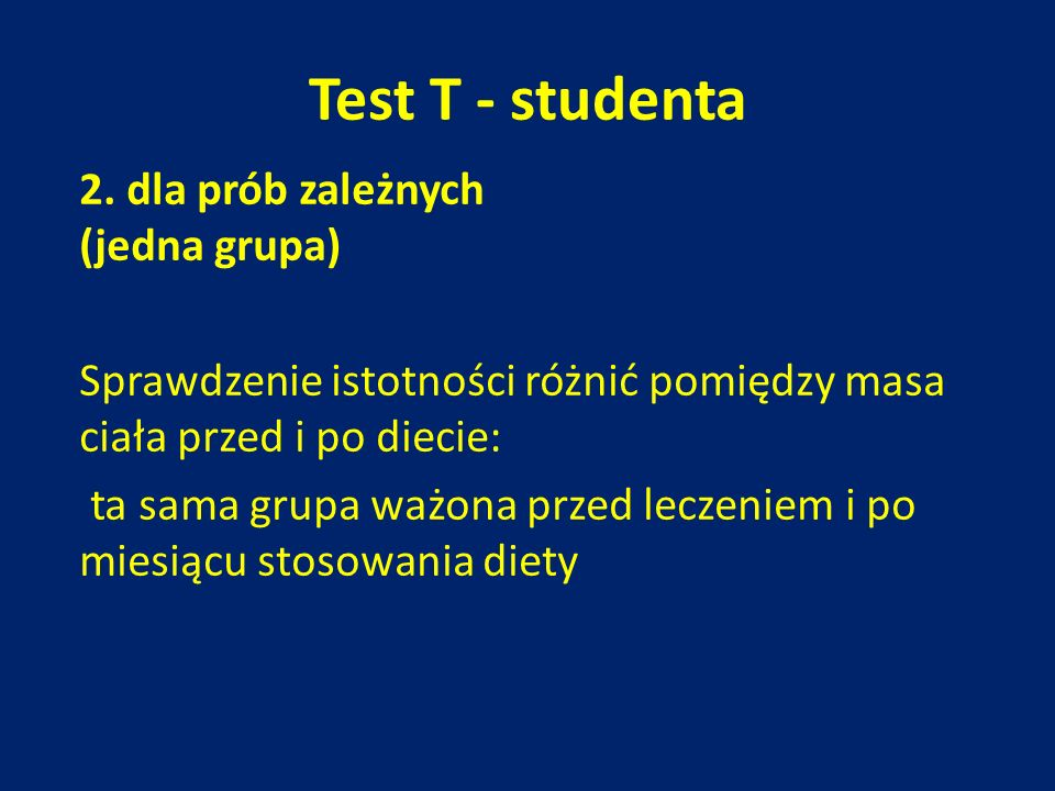 Test T - studenta