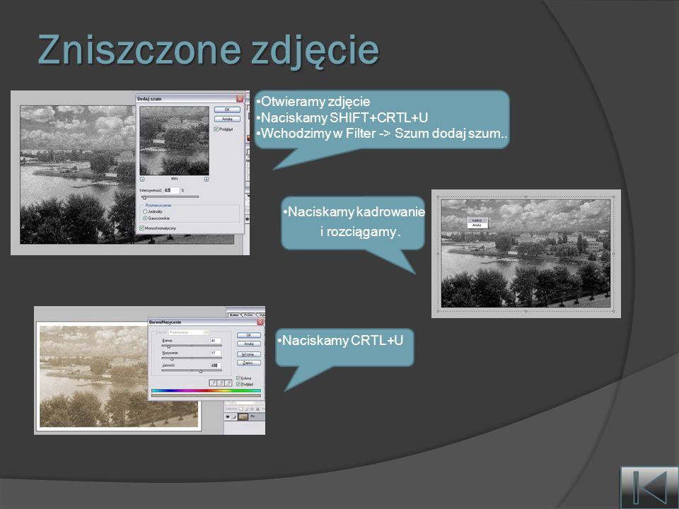 Zniszczone zdjęcie Otwieramy zdjęcie Naciskamy SHIFT+CRTL+U