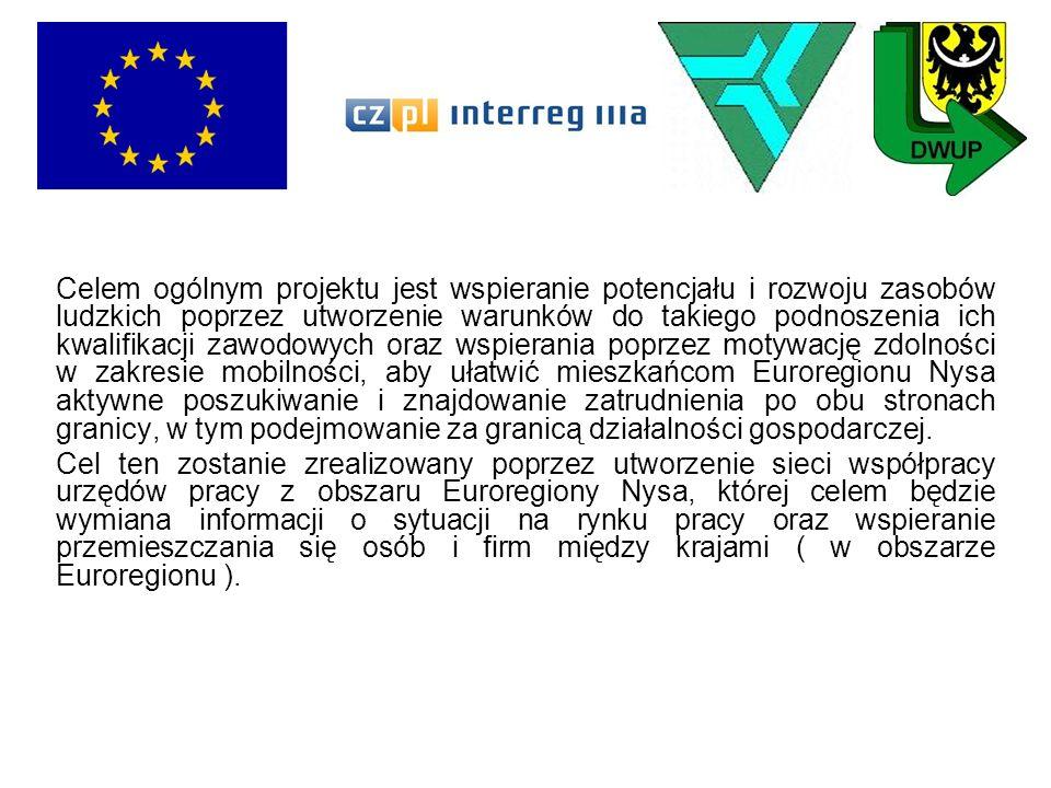 Celem ogólnym projektu jest wspieranie potencjału i rozwoju zasobów ludzkich poprzez utworzenie warunków do takiego podnoszenia ich kwalifikacji zawodowych oraz wspierania poprzez motywację zdolności w zakresie mobilności, aby ułatwić mieszkańcom Euroregionu Nysa aktywne poszukiwanie i znajdowanie zatrudnienia po obu stronach granicy, w tym podejmowanie za granicą działalności gospodarczej.