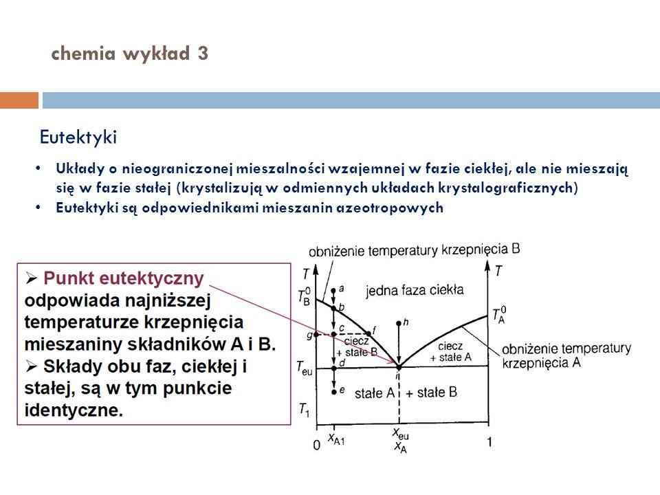 chemia wykład 3 Eutektyki