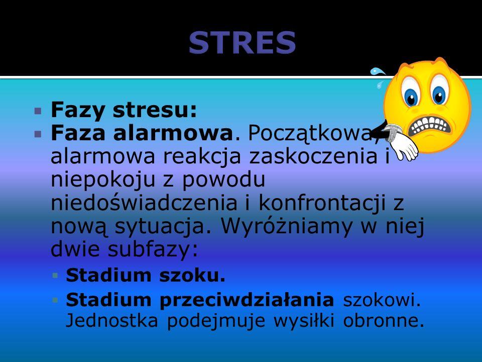 STRES Fazy stresu: