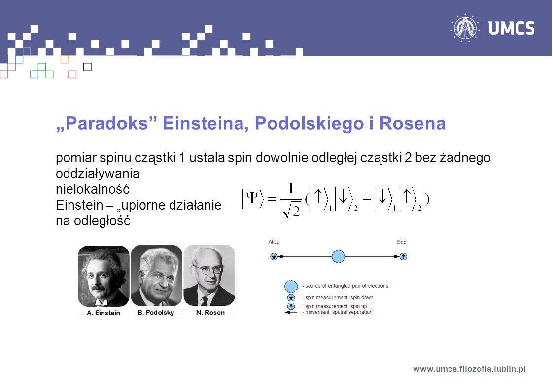 """""""Paradoks Einsteina, Podolskiego i Rosena"""