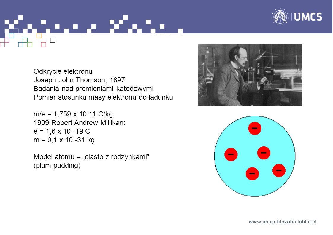 Odkrycie elektronu Joseph John Thomson, 1897