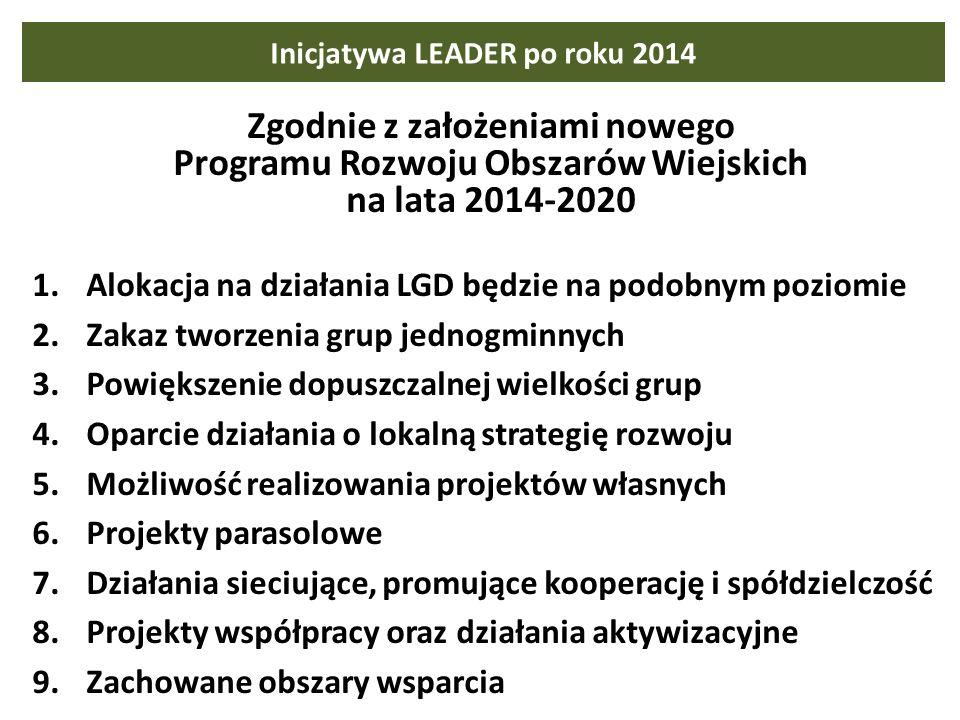 Inicjatywa LEADER po roku 2014