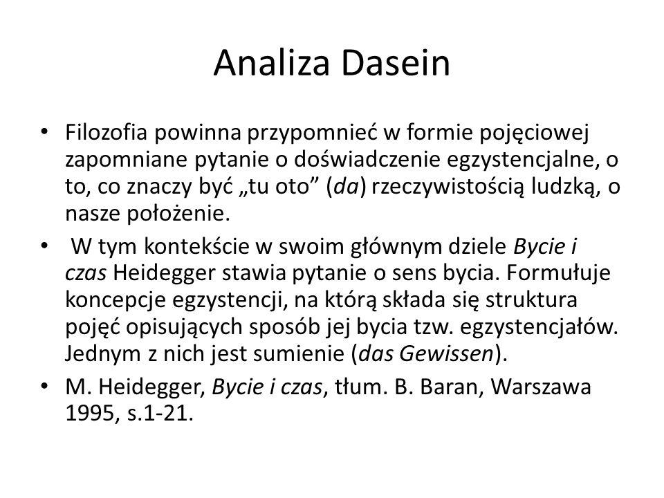 Analiza Dasein