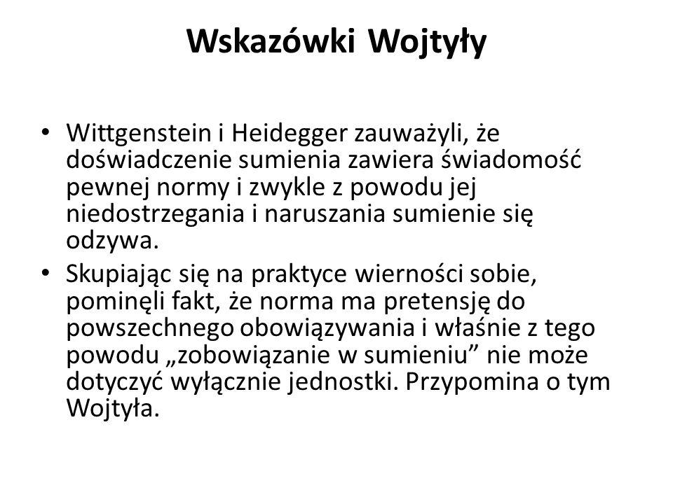 Wskazówki Wojtyły