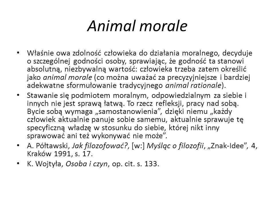 Animal morale