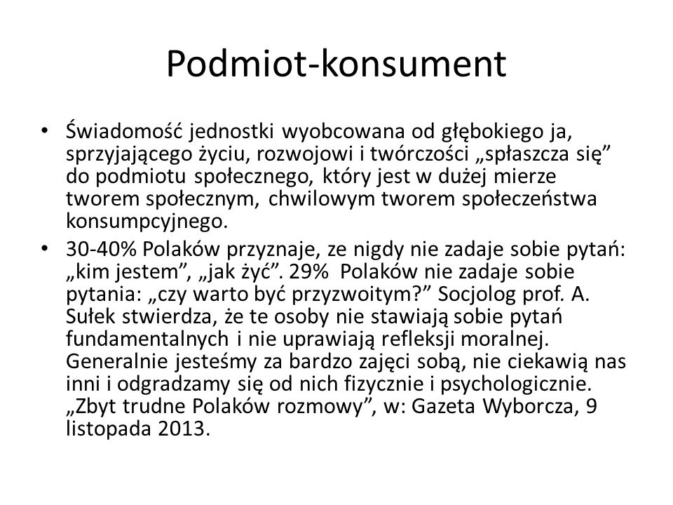 Podmiot-konsument