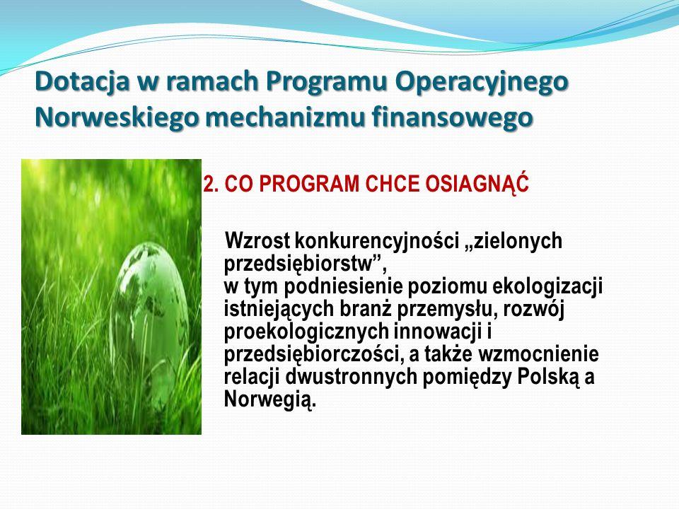 Dotacja w ramach Programu Operacyjnego Norweskiego mechanizmu finansowego