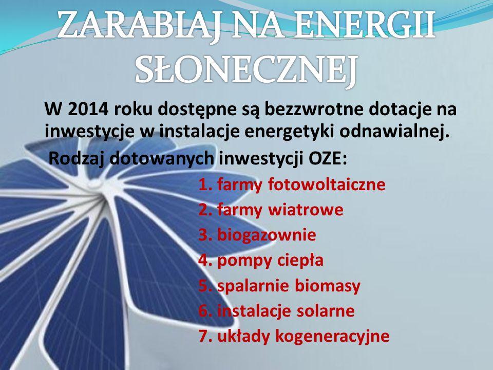ZARABIAJ NA ENERGII SŁONECZNEJ