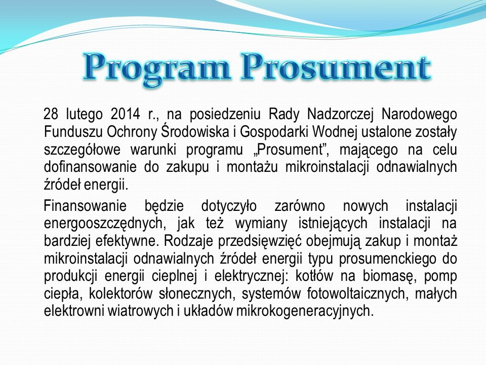 Program Prosument