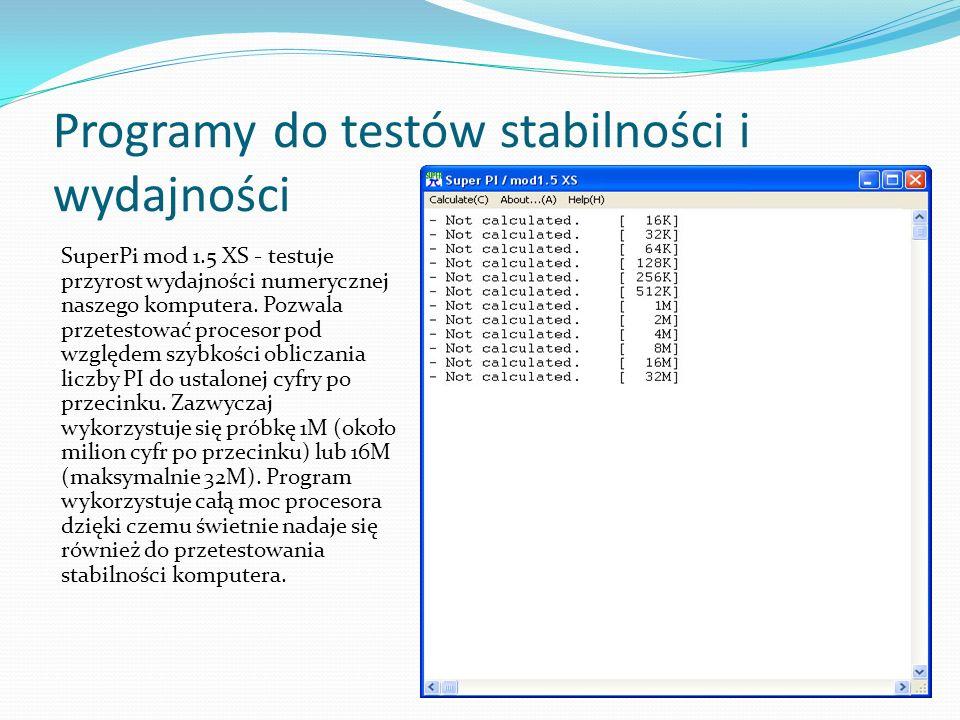 Programy do testów stabilności i wydajności