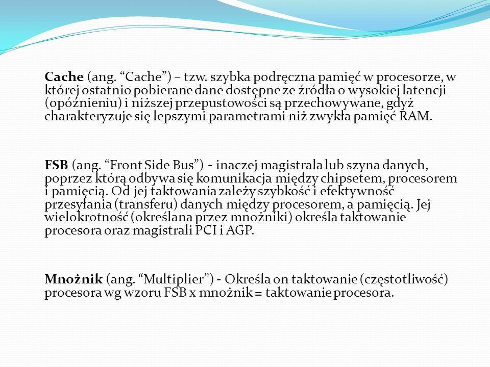 Cache (ang. Cache ) – tzw