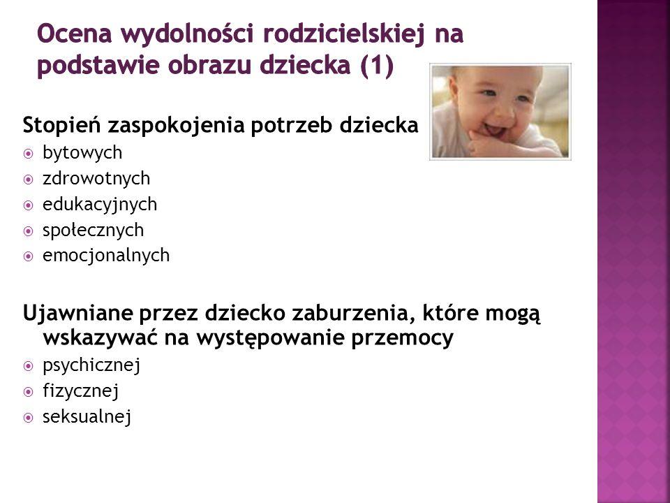 Ocena wydolności rodzicielskiej na podstawie obrazu dziecka (1)