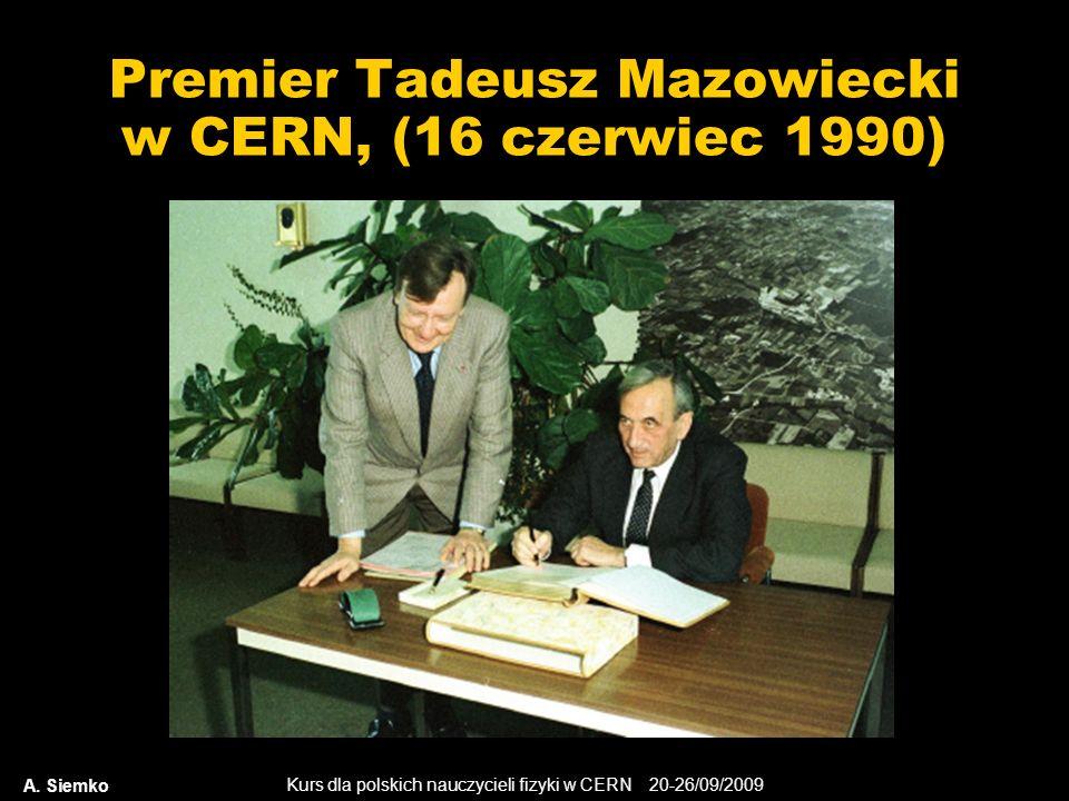 Premier Tadeusz Mazowiecki w CERN, (16 czerwiec 1990)