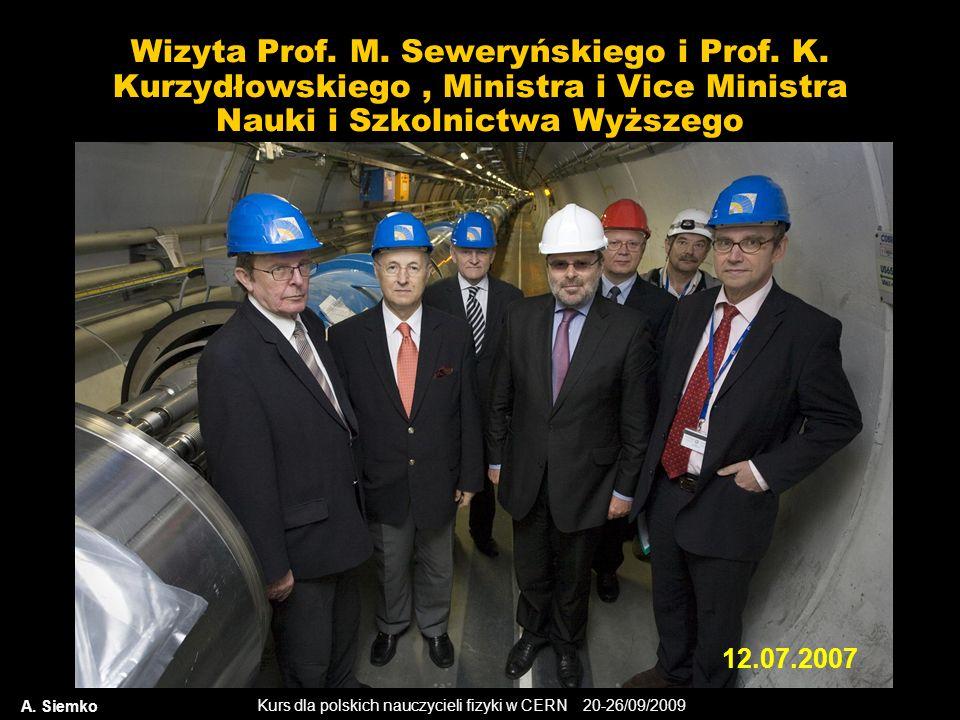 Wizyta Prof. M. Seweryńskiego i Prof. K