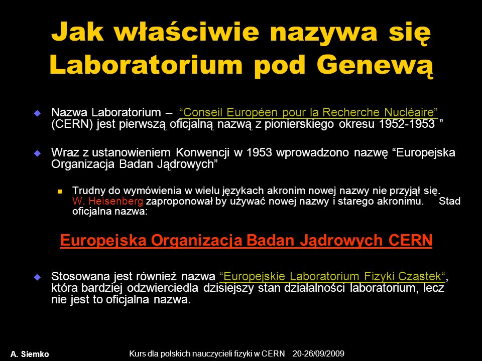 Jak właściwie nazywa się Laboratorium pod Genewą
