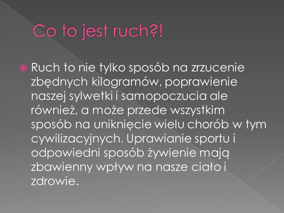 Co to jest ruch !
