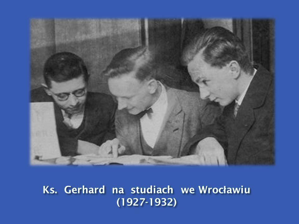 Ks. Gerhard na studiach we Wrocławiu (1927-1932)