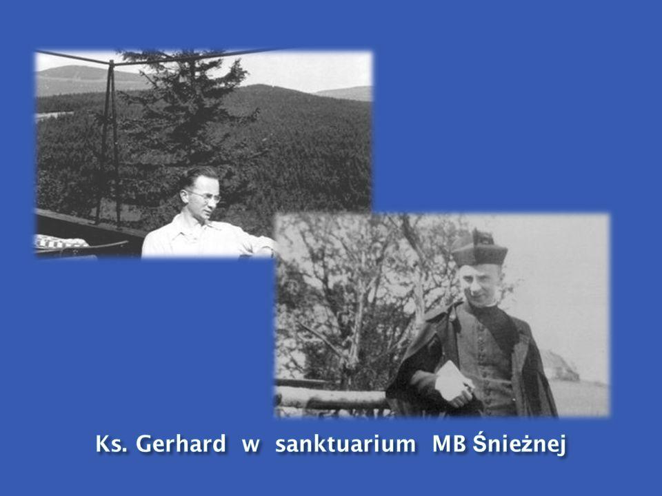 Ks. Gerhard w sanktuarium MB Śnieżnej