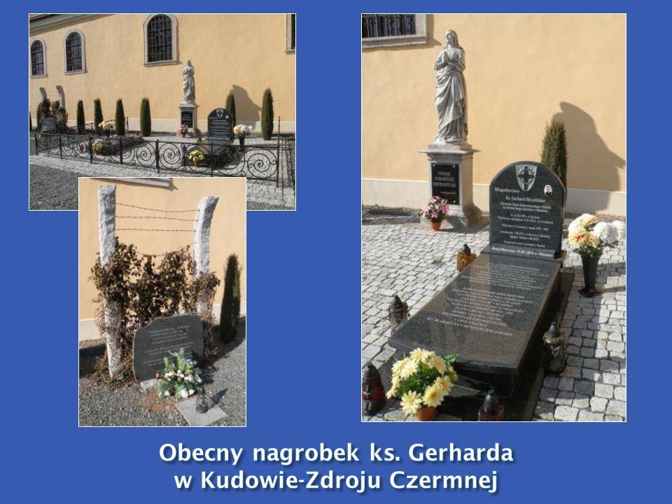 Obecny nagrobek ks. Gerharda w Kudowie-Zdroju Czermnej