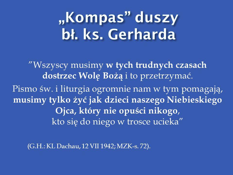 """Kompas duszy bł. ks. Gerharda"